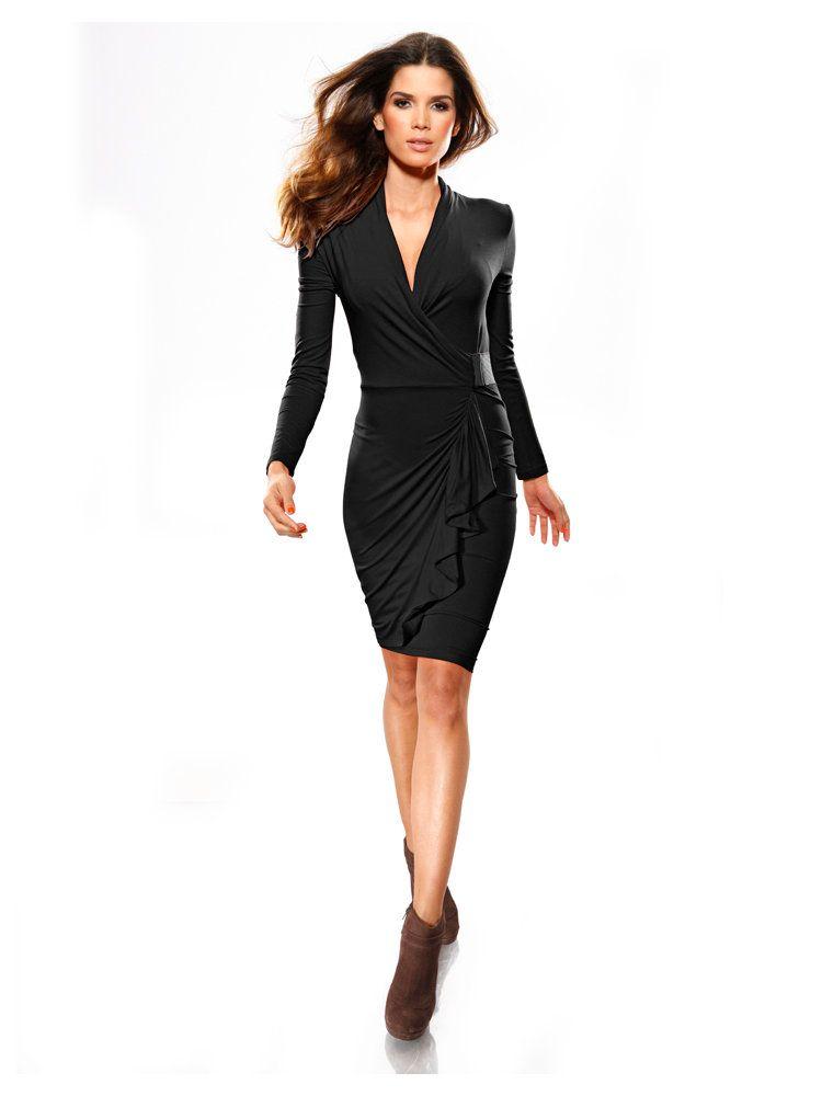 petite robe noire cache coeur et drap e chez mode femme pinterest fashion. Black Bedroom Furniture Sets. Home Design Ideas