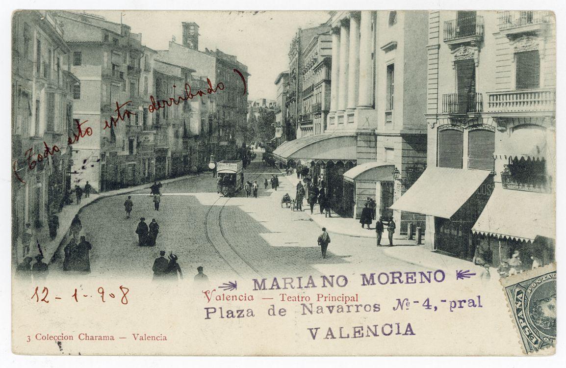 Teatro principal valencia 1908 val ncia antiga for Teatro principal valencia