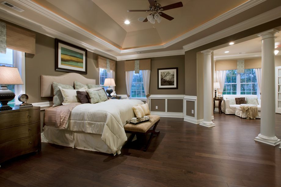 Toll brothers master bedroom suite with sitting area bedrooms pinterest toll brothers Pics of master bedroom suites