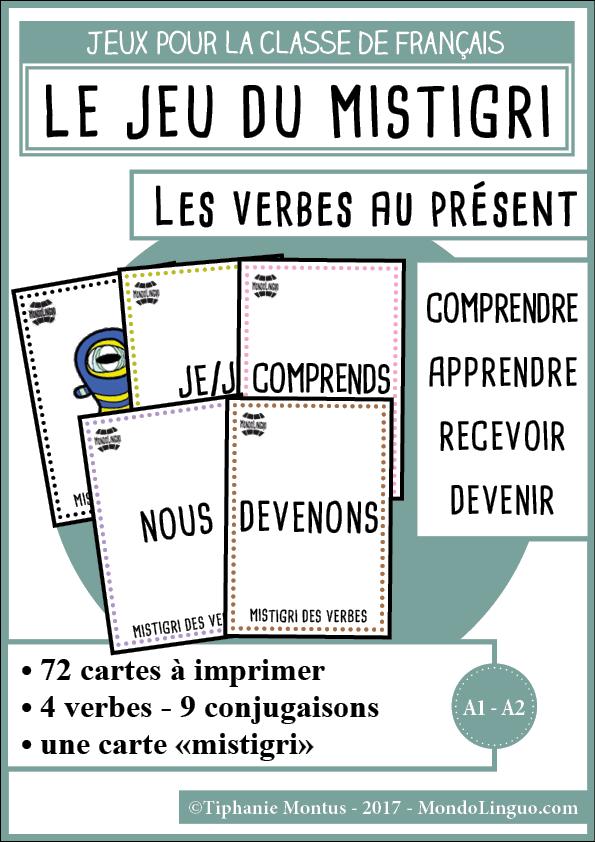 Mistigri Des Verbes Comprendre Apprendre Recevoir Devenir Mondolinguo Francais Apprendre L Anglais Jeu Conjugaison Jeux De Grammaire
