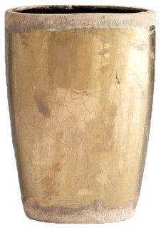 Large Gold Indoor Plant Pot