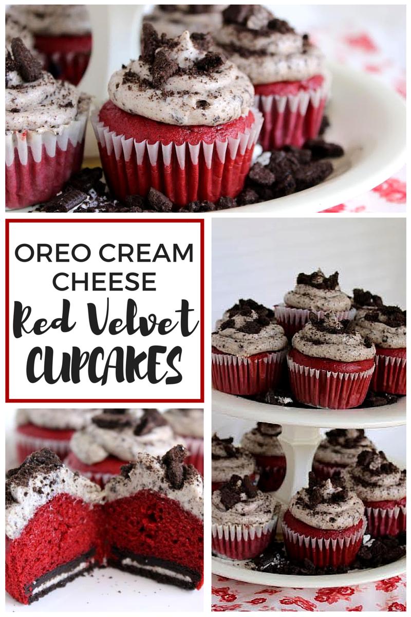 Oreo Cream Cheese Red Velvet Cupcakes
