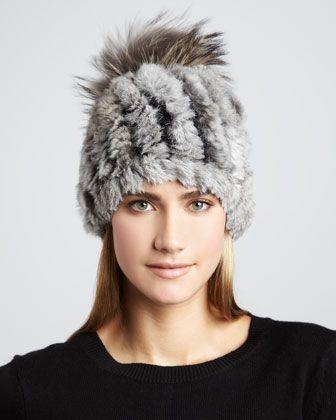 Knit Rabbit Pom-Pom Hat b26d7d00f77