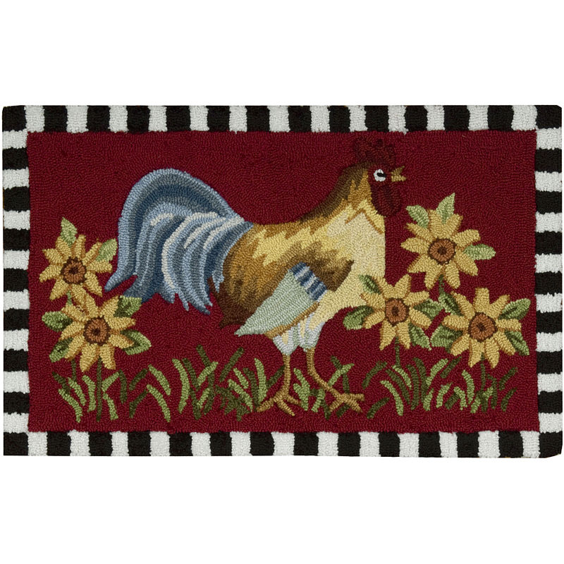 Nourison Rooster Washable Rectangular