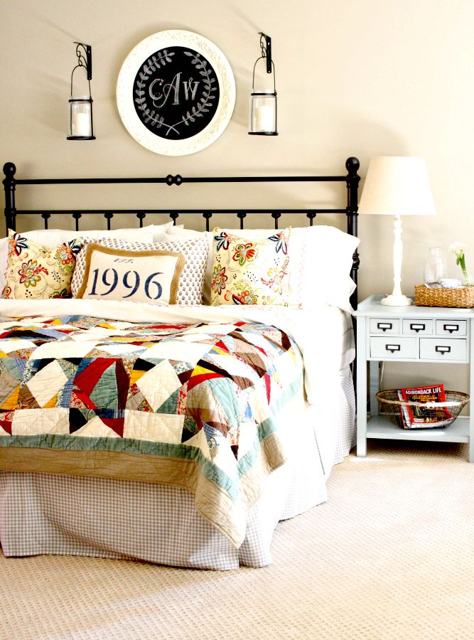 A Patchwork Quilt Sets the Scene For This Colorful, Pattern-Happy Bedroom