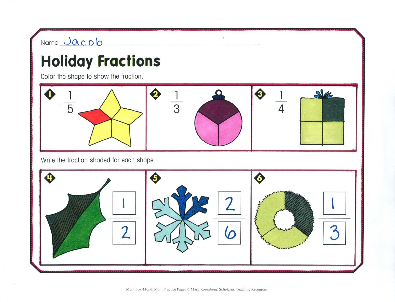 Students Identify Simple Fractions Byyzing And