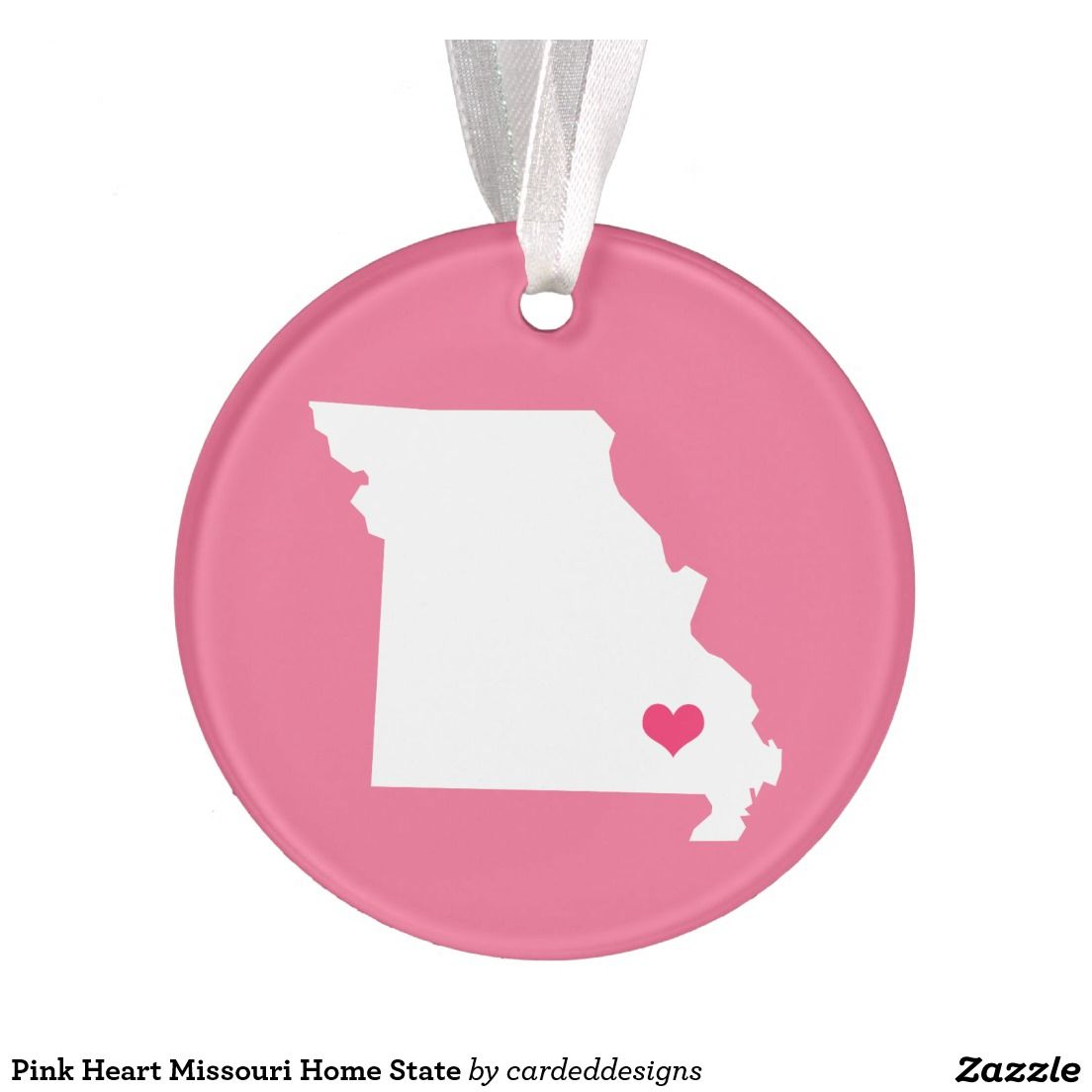 Pink Heart Missouri Home State