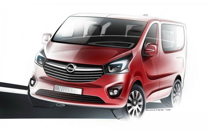 New Opel Vivaro Design Sketch Opel Truck Design Renault Trafic