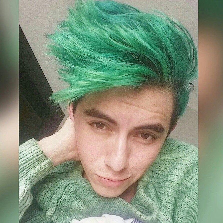 Cabello Verde Hombre Green Hair Men Hairstyle