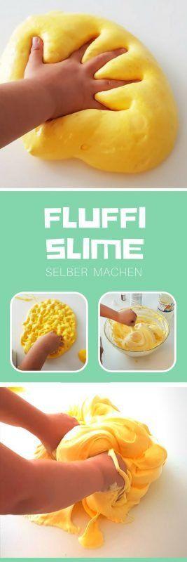 Fluffy Slime selber machen mit Rasierschaum [Anleitung] #toddlers