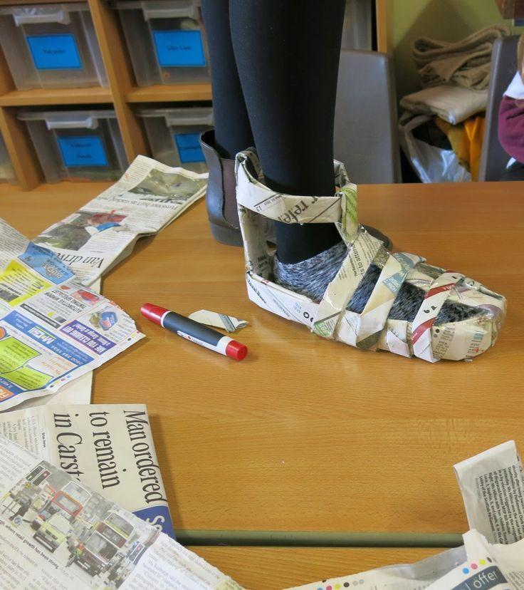 Newspaper Shoe Challenge
