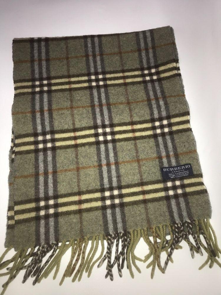 f931d7a11 Burberry London 100% Cashmere Mens Winter Scarf Green Plaid Nova Check  #fashion #clothing #shoes #accessories #womensaccessories #scarveswraps  (ebay link)