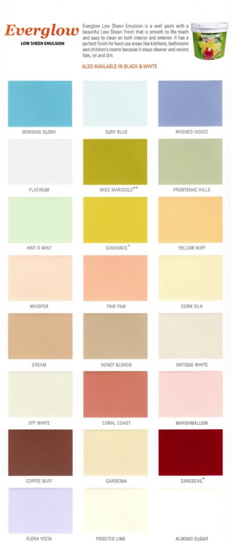 Berger Interior Paint Colour Chart Paint Color Chart Paint Charts Asian Paints Colour Shades