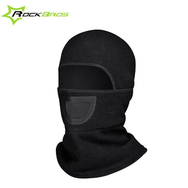 RockBros Winter Thermal Face Mask Headgear Outdoor Sports Cap Black Headband Hat