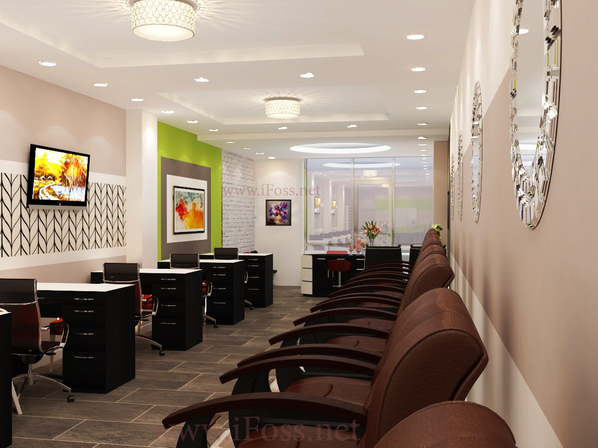 Nail Salon Design by #ifoss Contact ☎ : 7145567895 or Web : www ...