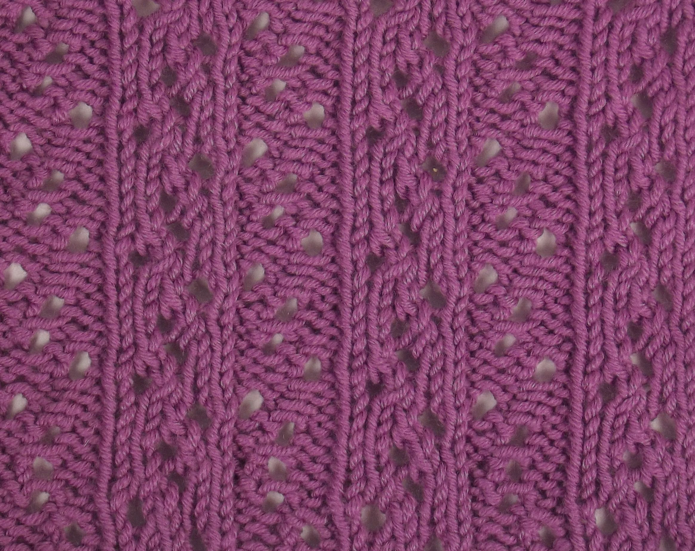 Lacy Ribbing II is a great reversible stitch pattern; perfect for ...