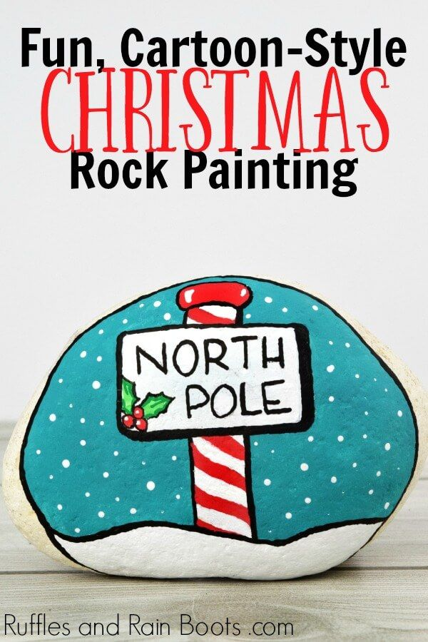 Christmas Rock Painting Idea