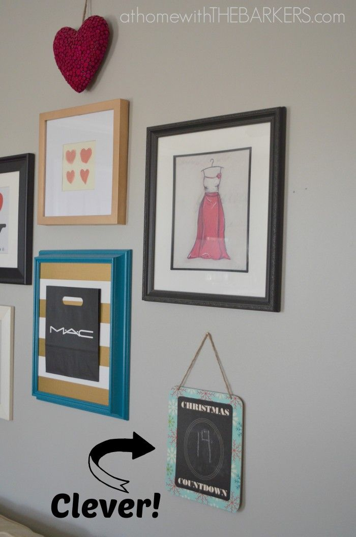 Holiday Decorating For Teen Girls Christmas Countdown Sign Added To Gallery Wall