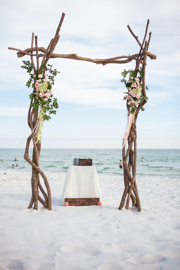 Rustic Wood Beach Wedding Arch Ideas Wedding Rustic beach
