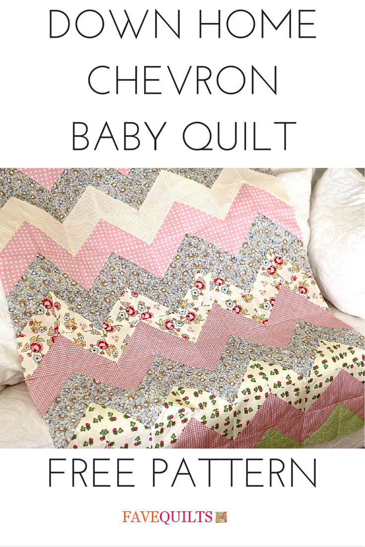 Down Home Chevron Baby Quilt Quilting Pinterest Baby Quilts