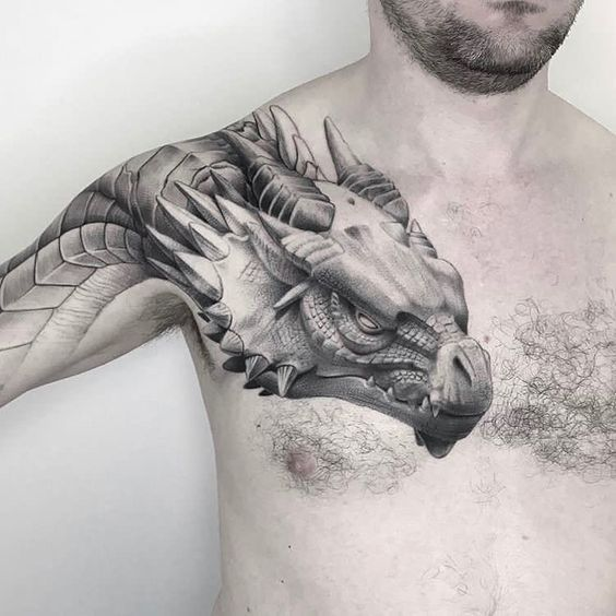 Amazing Breast Tattoo Ideas For Men – 100+ Best Breast Tattoos For Men – Breast Tattoo Gallery For Men Discover More Tat – …