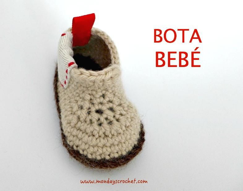 Botas para bebé tejidas a crochet   Zapatos de ganchillo, Zapatos de ...