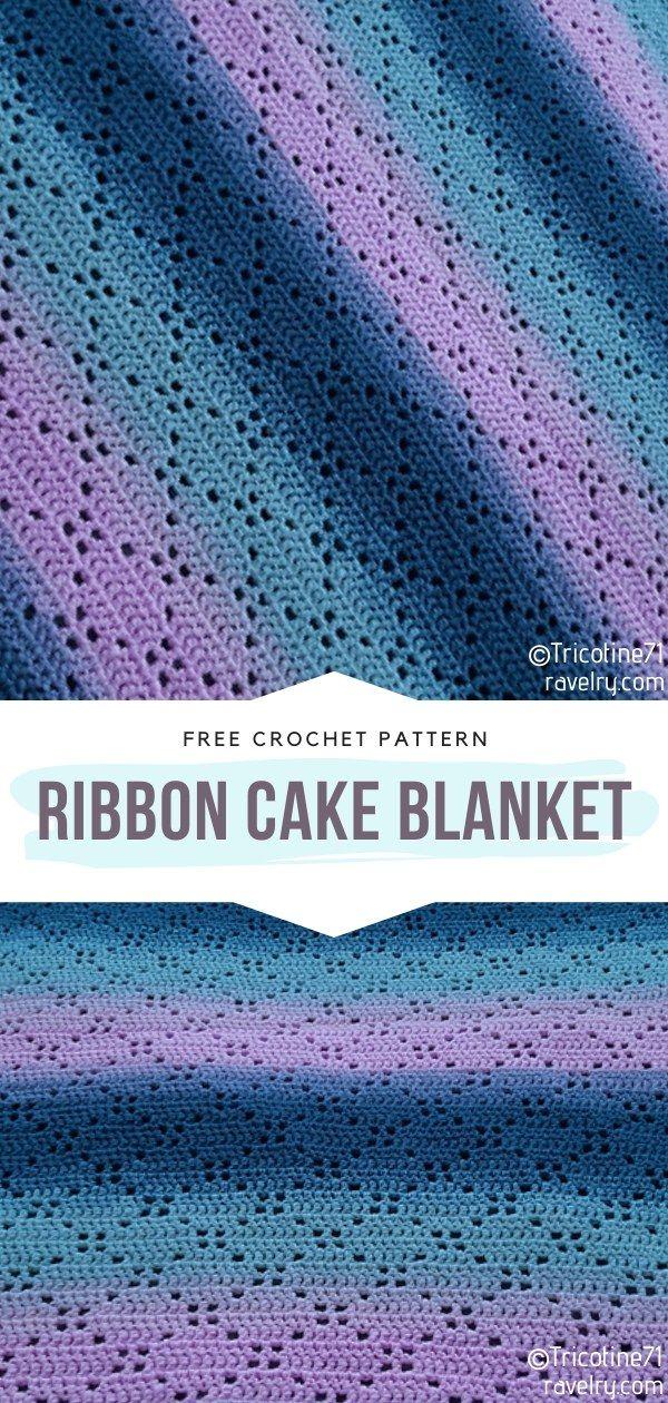 How to Crochet Ribbon Cake Blanket