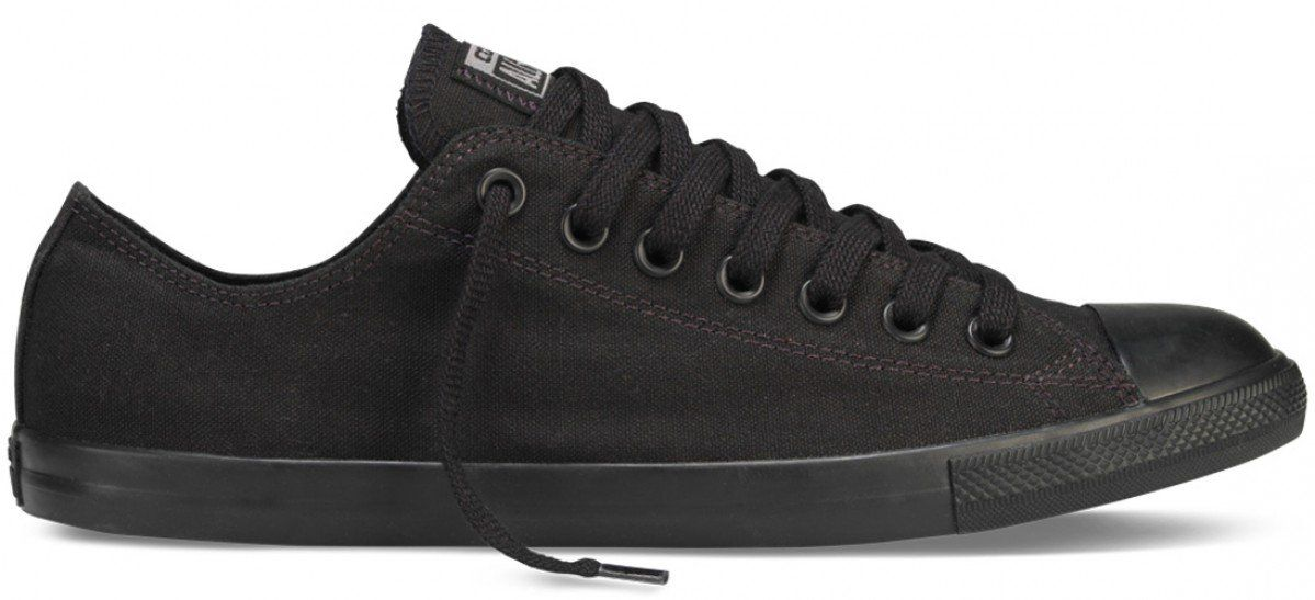 cf7c3f1383eb Converse Chuck Taylor All Star Low Lean Canvas Black  Black ...