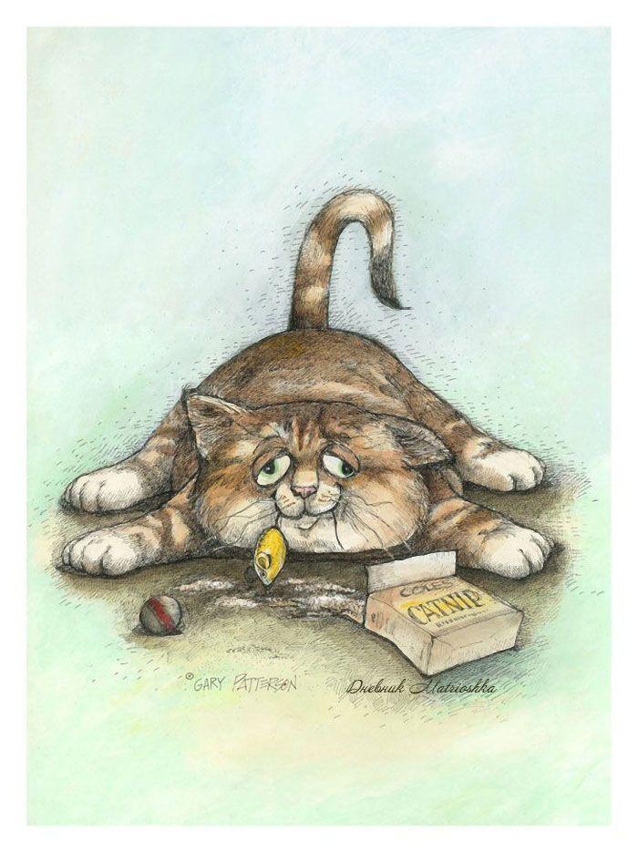 Кошки в рисунках прикольные