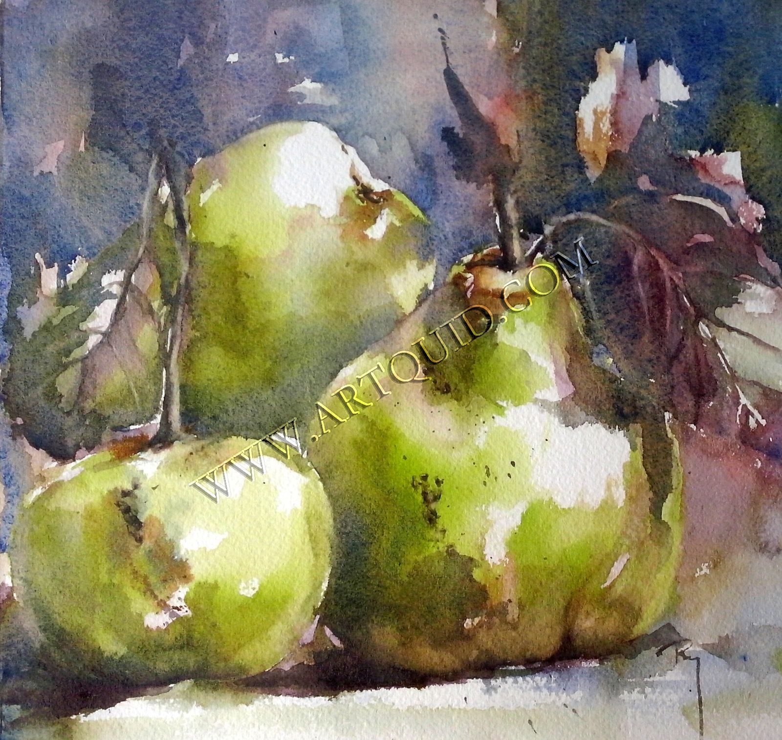 Memories Peinture De Nature Morte Dessin Fruits Fruits Aquarelle