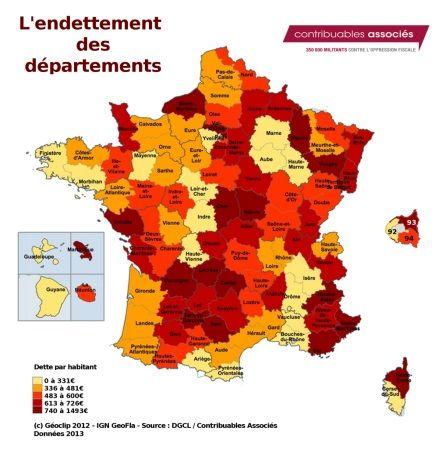Endettement Departements Correze Hautes Alpes Cantal Dordogne