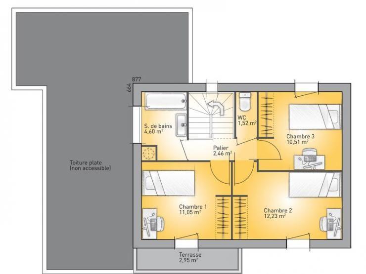 Plans De Maison  Er tage Du Modle EcoConcept Maison Moderne