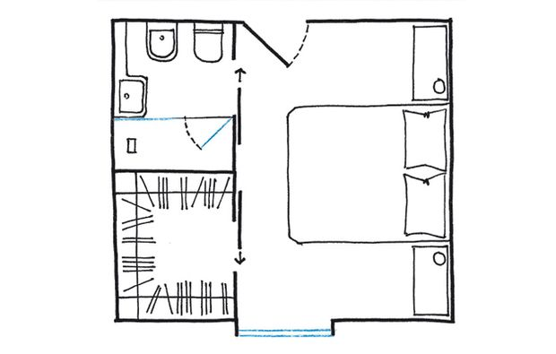 La cabina armadio: 10 progetti a seconda della tua camera | piantine ...