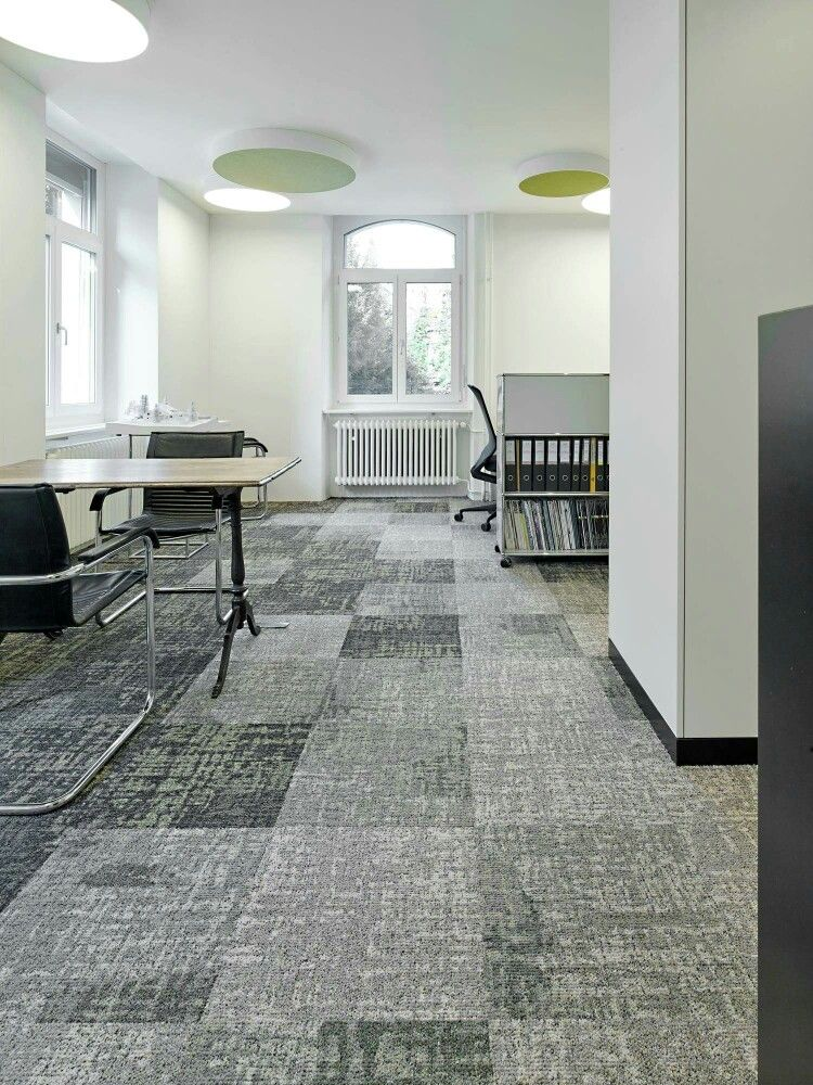 Mix Match Colours From One Single Carpet Tiles Collection To Create A Subtle Stylish Interior The Carpet Tiles Use Stylish Interiors Carpet Tiles Interior