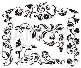 classic frieze designs, vinyl-ready, ornaments, ornamental art, decorative vector images, vector cliparts, cuttable graphics