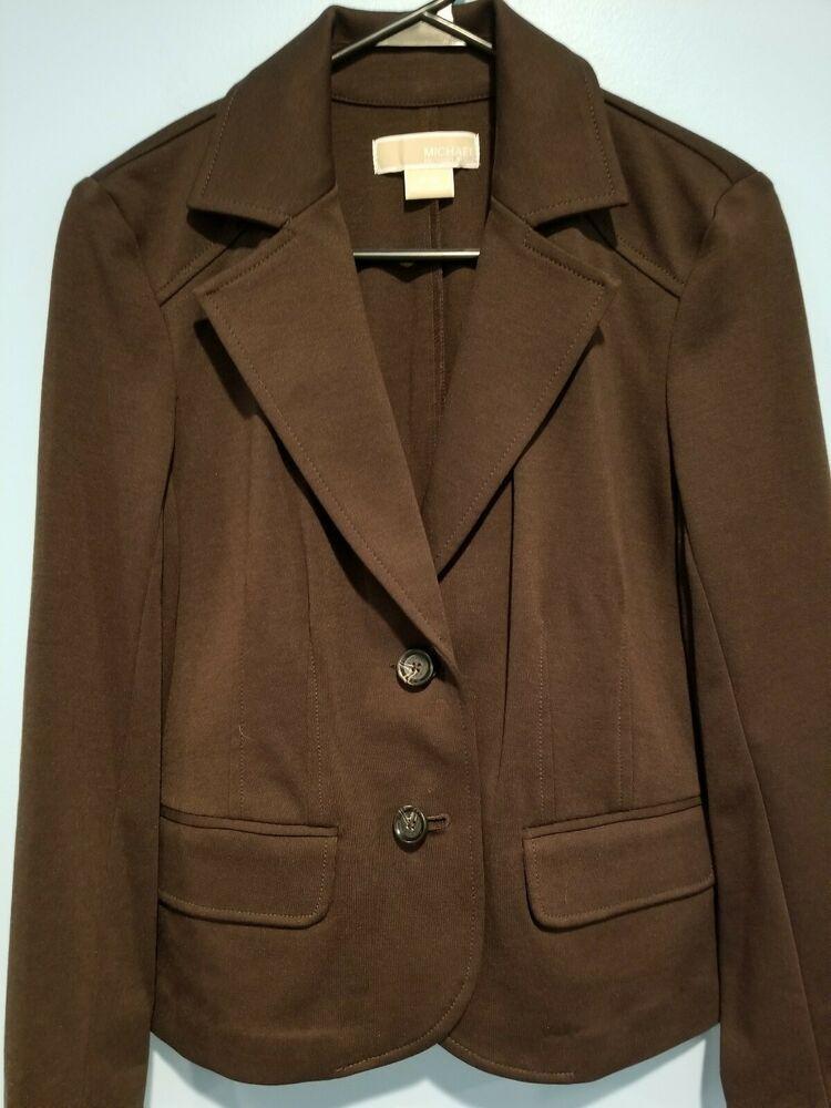 1ce7b852660b Michael kors women blazer dark brown size P/M #fashion #clothing #shoes