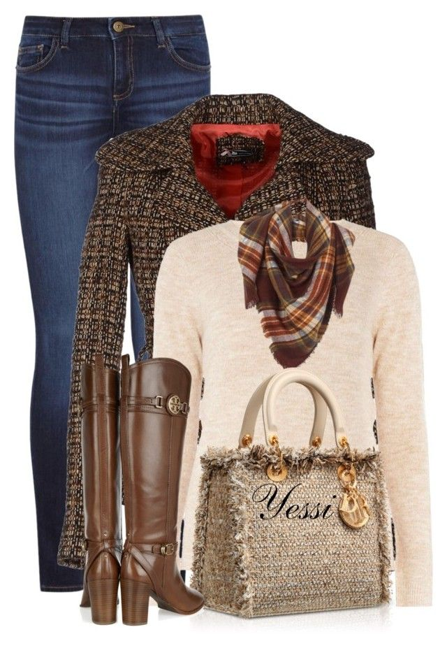 """~💕 Tweeds 💕 ~"" by pretty-fashion-designs ❤ liked on Polyvore featuring DL1961 Premium Denim, Sinéquanone, mel and Tory Burch"