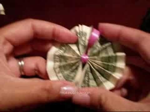 Hawaiian Money Lei Tutorial-Dollar Origami, Great gift idea!