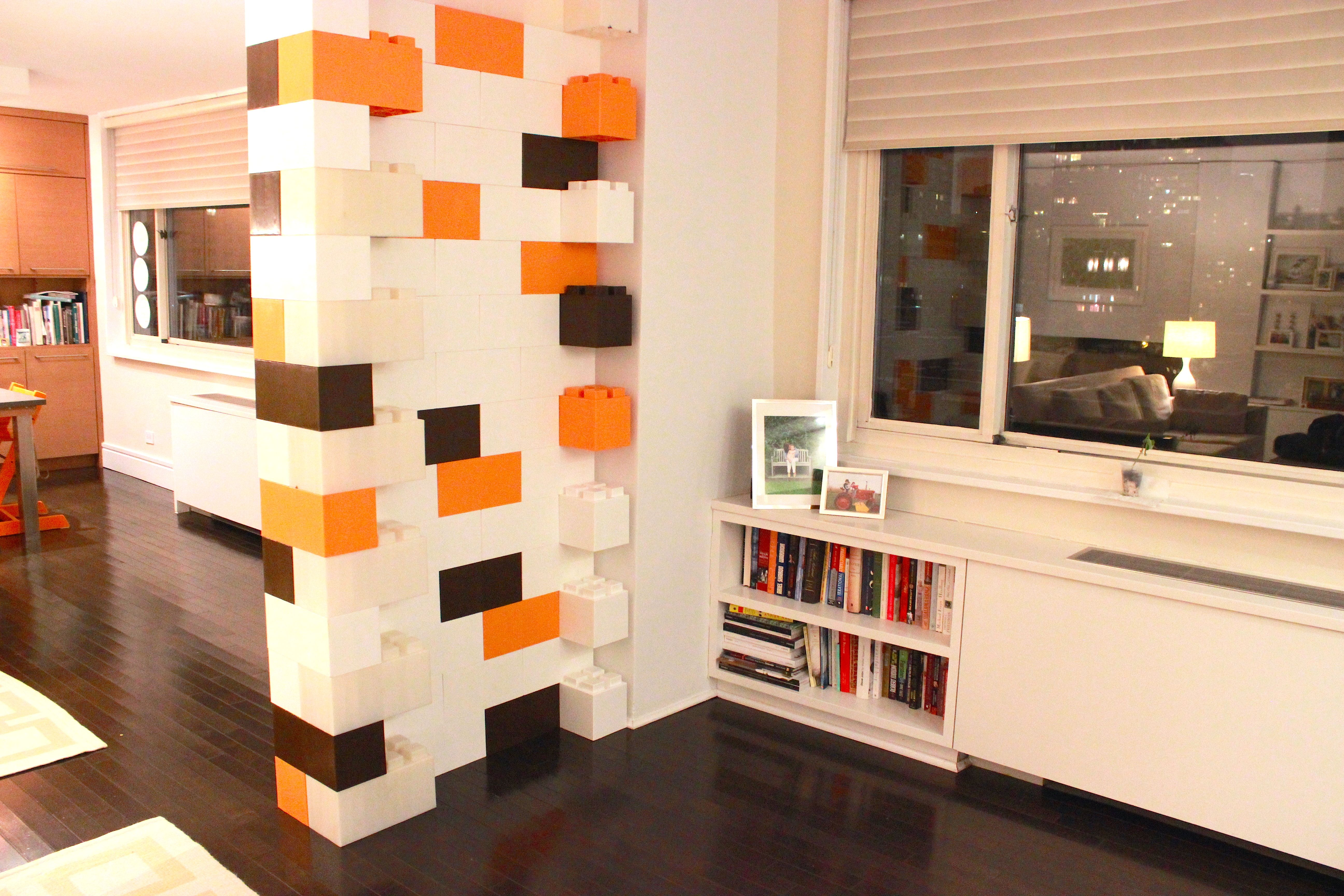 modular wall built from everblock room divider blocks colorful wall rh pinterest com