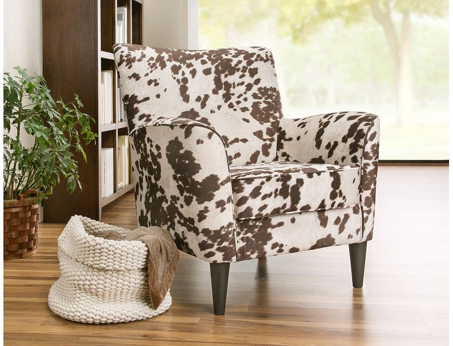 Alternate view printed accent chairs cow print chair