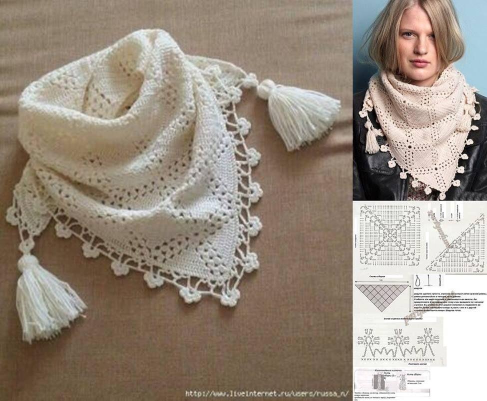 8c1ae0ae3 Modelos Maravillosos Bufandas en Crochet   Moldes y Patrones ...