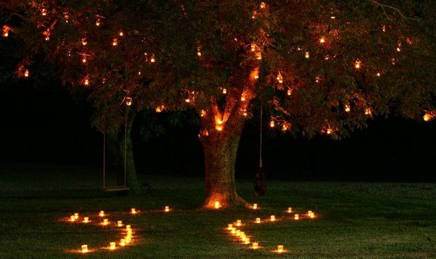 Man Proposes With Lights Display
