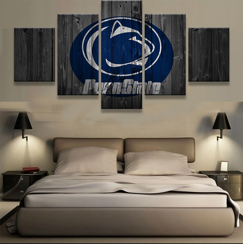 Check Discount 5 Pieces Penn State Nittany Lions Sports Modern Home Wall  Decor Canvas Picture Art