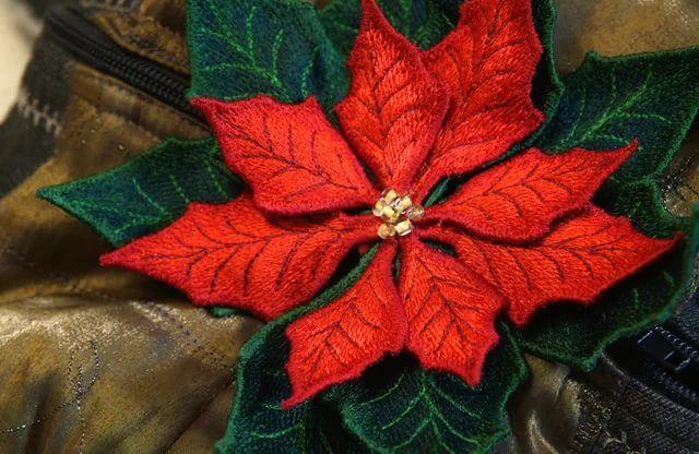 валяная брошь цветок пуансеттия: 12 тыс изображений ...