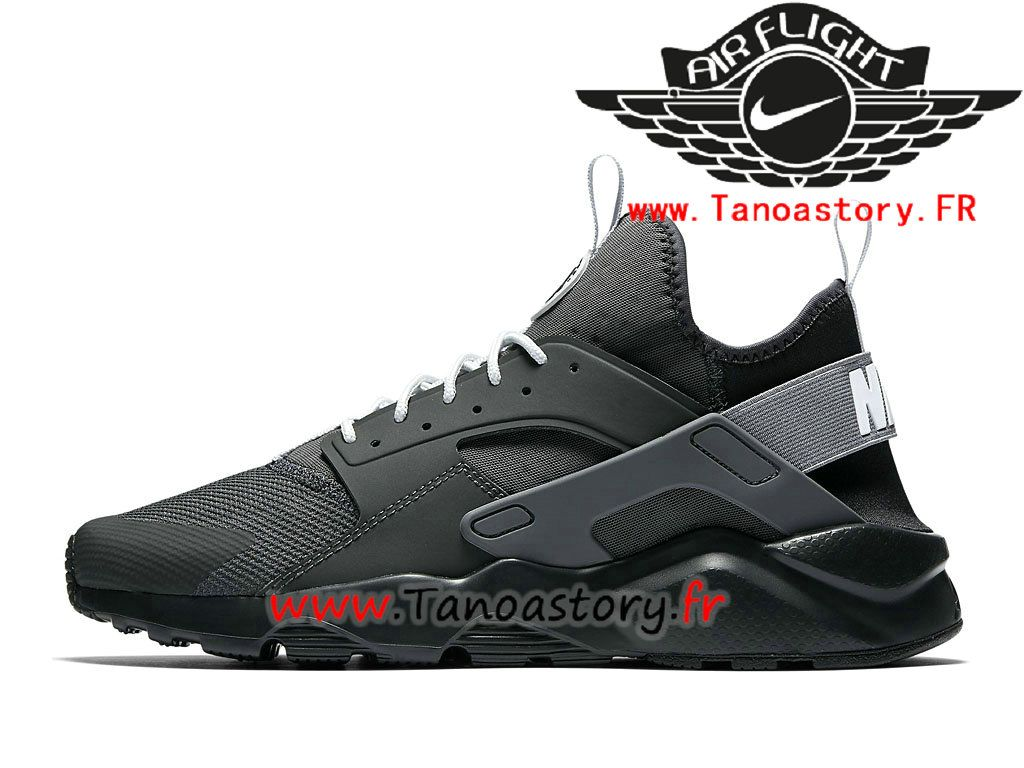 big discount info for online here Chaussures Homme Nike Air Huarache Ultra Prix Pas Cher Gery Noir ...