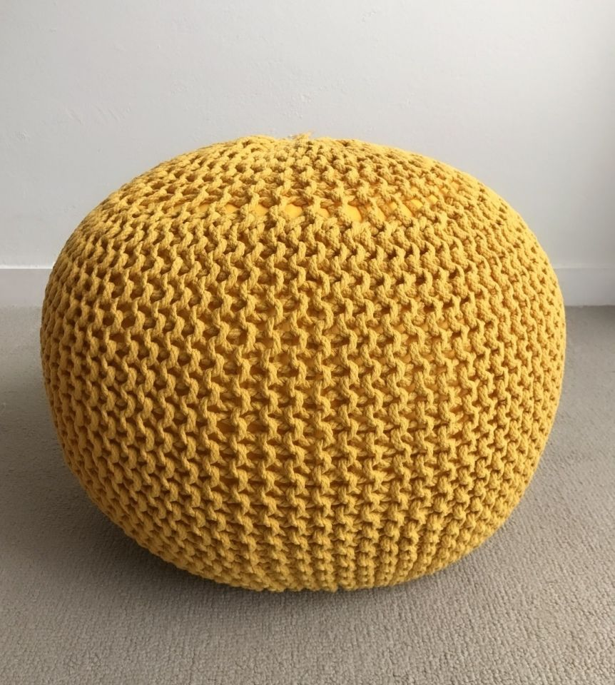 Pouf Ottoman Yellow With Images French Country Bedrooms Pouf