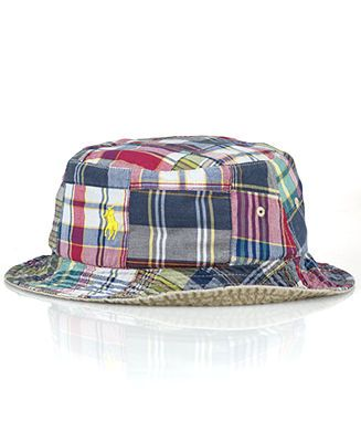 6e61714aa Polo Ralph Lauren Reversible Twill-and-Madras Bucket Hat - Hats ...