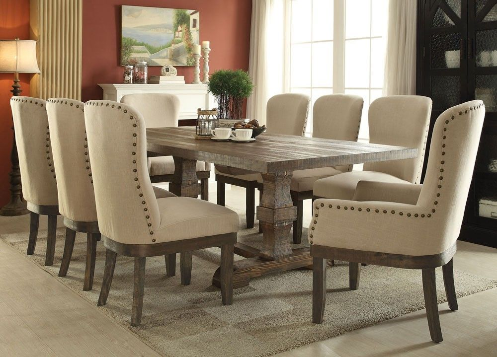 Room Cantor Salvage Brown Finish Dining Table