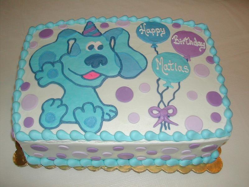 Blues clues sheet cake blue birthday parties birthday