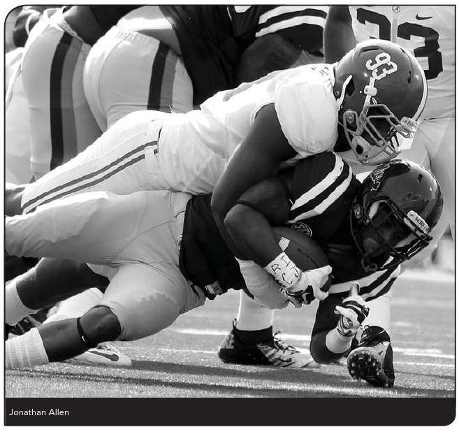 Jonathan Allen, Alabama Crimson Tide DL, Junior #93 - from 2015 Football Media Guide #Alabama #RollTide #BuiltByBama #Bama #BamaNation #CrimsonTide #RTR #Tide #RammerJammer